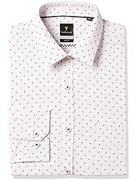 Van Heusen Men's Printed Slim Fit Cotton Formal Shirt