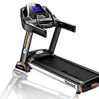 Powermax Fitness TDA-330 3 HP (6 HP Peak) Motorized Treadmill for Home Use - Free Installation Service - 3 Years Motor Warranty - with 5.5 inch Blue LED Display, Touch Buttons & 15 Level Auto Incline