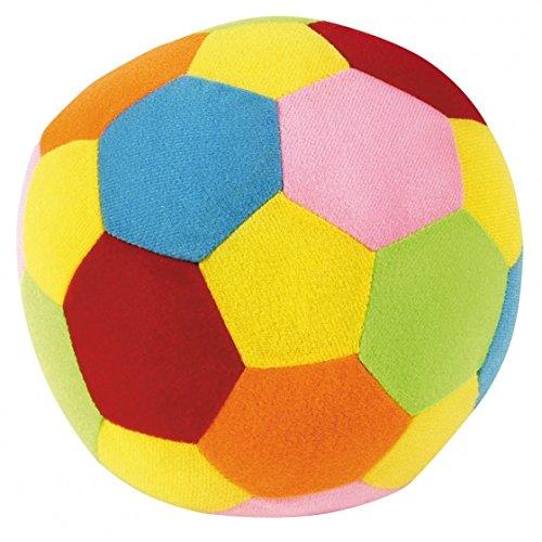 Johntoy 22034 Palla Happy World con sonaglio Diametro 18 Multicolore