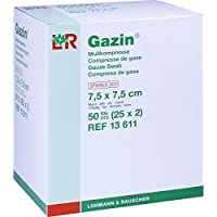 GAZIN Mullkomp.7,5x7,5 cm steril 8fach 25X2 St preisvergleich bei billige-tabletten.eu