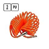 5 m PU Luftschlauch Druckluft Spiralschlauch Ø 5 x 8