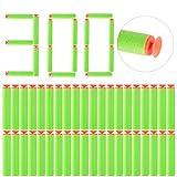 Lommer Pfeile Saugnapf, 300 Stück Saugnapf Refill Darts Weich Kugel Nachfüllpack Saugnapf für Nerf Accustrike, Modulus, Elite und Rebelle Serie (Grün)