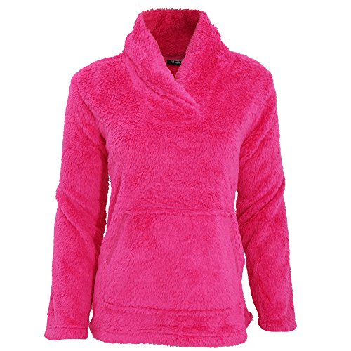 - 51aumbo 2BEJL - Womens/Ladies Long Sleeved Soft Fleece Pyjama Snuggle Top With Pocket