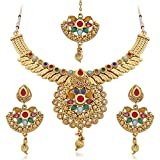 Palash Golden Color Alloy Necklace Set For Women(PNZ01N4AHS) best price on Amazon @ Rs. 775