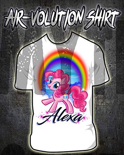 onalisierte Airbrush My Little Pony Pinki Pie Hemd Kinder- / Erwachsen-Größen Weiß ()