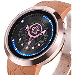 XINGYUNSHI Girls Watch Anime Card captor Wand Collector's Edition Touch Screen LED Watch