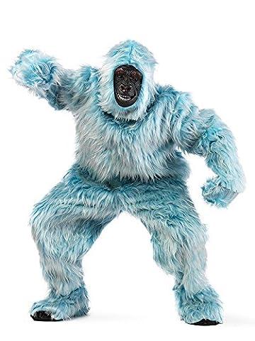 Yeti Gorilla Deluxe Kostüm hellblau XL (Deluxe Gorilla-kostüm)