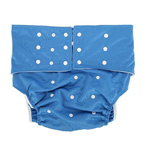 Waschbar Erwachsene Windel, Wiederverwendbare Windelhosen gegen Inkontinenz für Erwachsene, Dual Opening Pocket verstellbar leakfree, für ältere Menschen und behinderte Pflege(#1)