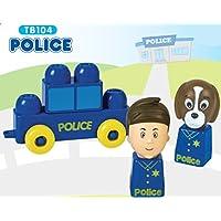 Preisvergleich für : Tutor Blocks Serie 104 Polizei Kleinkind Magnetbausteine Lernbausteine Senioren Memory-Bausteine Babyspielzeug Sensorikspielzeug ab +6 Monate