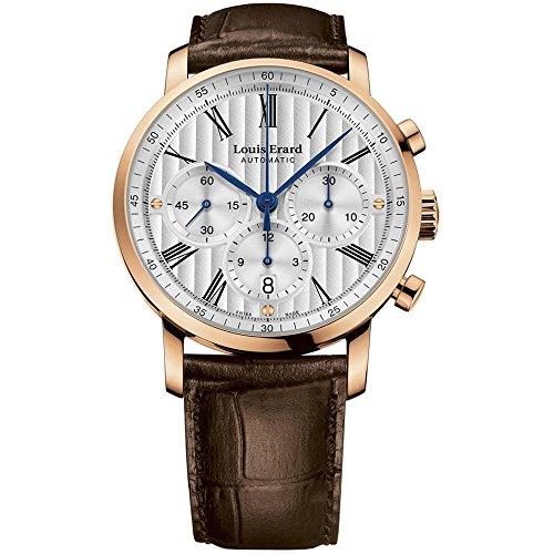 Louis Erard Excellence Reloj de hombre automático 42mm de cuero 71231OR11.BAC52