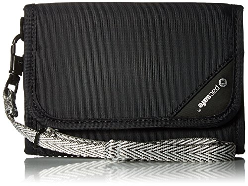 Pacsafe RFIDsafe V125Diebstahlschutz RFID-blockierender Geldbörse, schwarz