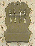 Melody Jane casa delle bambole chrysnbon CUCCHIAIO PORTA UTENSILI KIT miniatura accessori per cucina