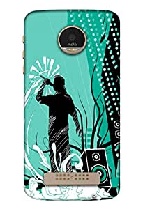 Moto Z Mobile Back Cover For Moto Z; It Is Matte glossy Thin Hard Cover Of Good Quality (3D Printed Designer Mobile Cover) By Clarks