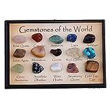 Sharplace Muestra de Piedra Mineral Natural Gema Material para Enseñanza de Naturaleza Geología - Estilo 2 (15 Piezas)