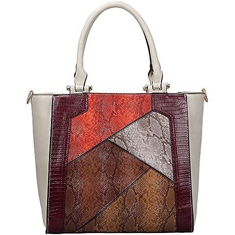 HB Style - Bolso de tela de Otra Piel para mujer multicolor multicolor Medium