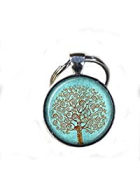 Árbol de la vida llavero, Gorgeous Llavero, Mimi llavero, Árbol de la vida clave de estilo vintage diario clave Cadena, Regalo único llavero personalizado regalo
