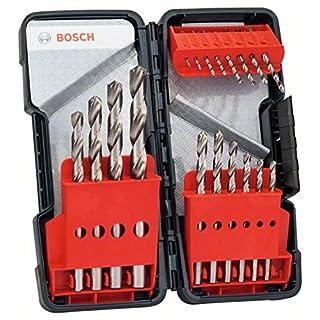 Bosch 2607019578 18-Piece Toughbox Metal Drill bit Set HSS-G, DIN 338, 135°, Silver