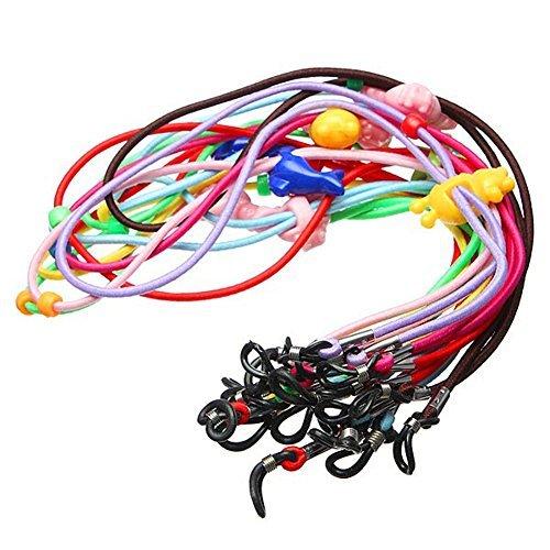 Rimandy Kinder 12 Stück elastische, bunte Sicherheits-Brillenhals-Schnur-Halter, Brillenketten, Seil für Brillen und Brillen
