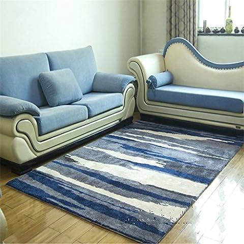 Style européen bleu résumé manuel tapis acrylique salon table à