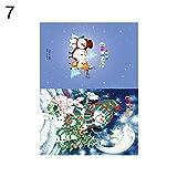 yimosecoxiang Geburtstagskarte mit Diamant-Gemälde, Weihnachtsmann, Weihnachten, DIY 7#