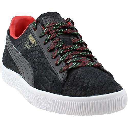 PUMA Clyde GCC Mens Black Leather Lace up Sneakers Shoes 7 5