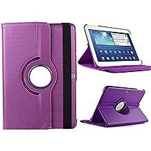 """Theoutlettablet® Funda Giratoria 360º para Tablet Bq Aquaris M10 10.1"""" Book cover case Protección delantera y trasera Color MORADO"""