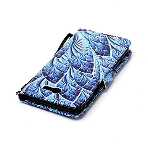 Samsung Galaxy J7 2017 Wallet Case,Samsung Galaxy J7 2017 Strap Leather Case, Etsue Elegant Colorful Painted Design Magnetic Bookstyle Pu Leather Wallet Flip Protective Case Cover with Card Slots for Samsung Galaxy J7 2017+Blue Stylus Pen+Bling Glitter Diamond Dust Plug(Colors Random)-Blue Feather