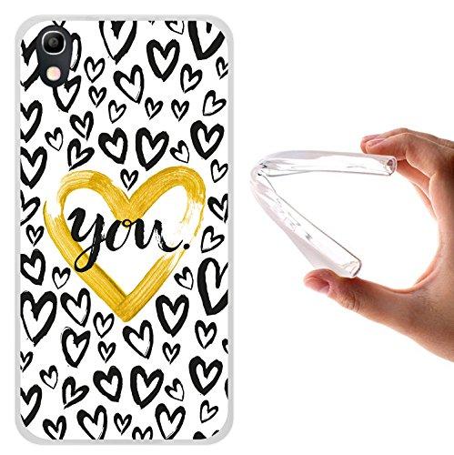 Alcatel Idol 4 Hülle, WoowCase Handyhülle Silikon für [ Alcatel Idol 4 ] Farbiges Herz Handytasche Handy Cover Case Schutzhülle Flexible TPU - Transparent