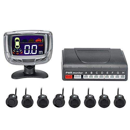 BW 8Sensor ultrasónico–2pulgadas de pantalla LCD Display, sistema de alerta, 0,3A 2,5M...