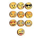 Beyond Dreams 10 Lustige Emoji Kühlschrank Magnete | Büro Organisieren Foto Dekoration | Verschiedene Gesichter Smiley | Magnettafel Memoboard