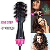 MOGOI One Step Hot Air Brush, Hair Dryer & Styler & Volumizer 2-in-1 Multi-functional High-power Salon Negative Ion Hair Straightener & Curly Hair Comb with Anti-Scald Feature for All Hair Type