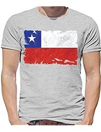 Dressdown Chile Grunge Estilo Bandera - Camiseta Hombre - 13 Colores