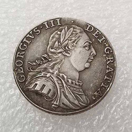 DDTing 1787 Münze mit 1 Schilling-Münze, britische alte Silbermünze zum Sammeln - Silber-Dollar-Münze - unzirkuliert/Sammlerstück