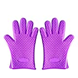 Best Insulated Barbecue And Food Gloves - Italish 1 Pair Heat Resistant Silicone Gloves, Food Review