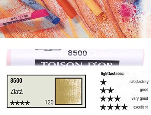 KOH-I-NOOR TOISON D'OR Softpastellkreide Pastellkreide Einzelfarbe Nr. 120 Gold