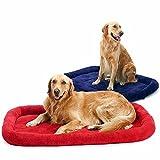 ZHJZ Lettiera per Cani Morbido cuscino per cuscino in pile per gatti (blu, M)