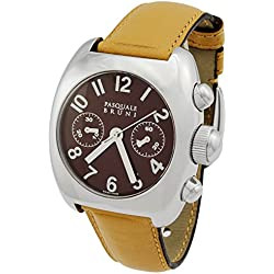 Pasquale Bruni Uomo Chronograph Edelstahl Swiss Made Automatik Herren-Armbanduhr 01mcamarr