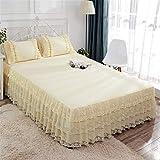 huyiming Verwendet für einfachen Sommer 1.5m1.8m einzelne Bettprinzessinkleid-Bettabdeckung/Satz des Bettrocks 180cmx200cm