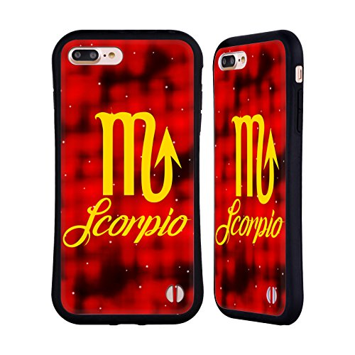 Ufficiale WondrousCre8tions Gemelli Segni Zodiacali Case Ibrida per Apple iPhone 7 Scorpione
