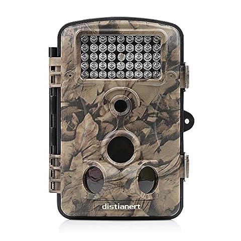 Distianert Caméras de Chasse 12MP 1080P HD pour la Chasse et l'observation de la Nature, Vision Nocturne avec 42 LED IR, Grand Angle 120°, Caméra de Surveillance et de Détection Infrarouge étanche