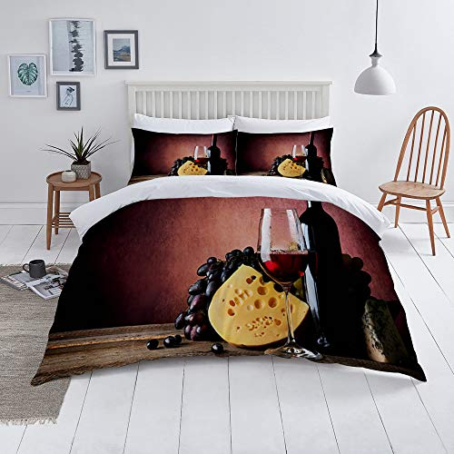 """""""Microfibre duvet cover  Immediately create a new elegant look in your bedroom with this microfibre duvet cover. The duvet cover of this set of sheets offers an extra layer of warmth for maximum comfort in any season. The duvet cover fits any duvet ..."""