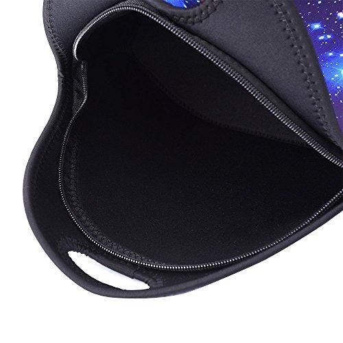 Artone Unisex Nylon Starry Galaxy Universe Zaino Misura 15 Laptop Con Tracolla Borsa Con Cordino E Astuccio Blu Set Di 4 Blu Bulk Set Di 3