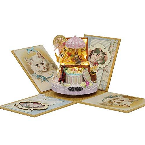 Hensdb Candy Cat Hand Montiert DIY Puppenstuben Kit, Mit Möbeln Für Romantisches Kunstwerk Geschenk-Charming Room -