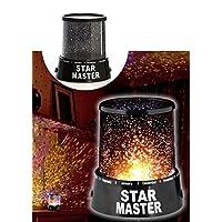 Buffer Duvara Yıldız Yansıtan Star Master Gece Lambası, Siyah