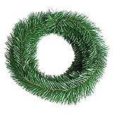 MeetUs Künstliche Weihnachtsgirlande für Weihnachtsdekorationen - weich, grün, Urlaubsdekoration für drinnen oder draußen, für den Garten, künstliche Grünerei, Hochzeit, Party-Dekorationen