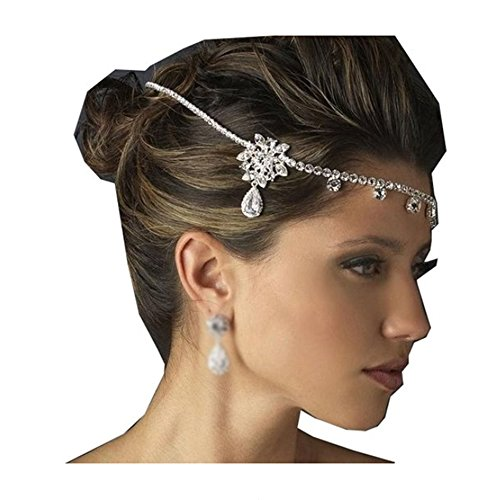Bella Bridal Wedding Rhinestone Hairband Hair Band Headchain inestone Head Chain