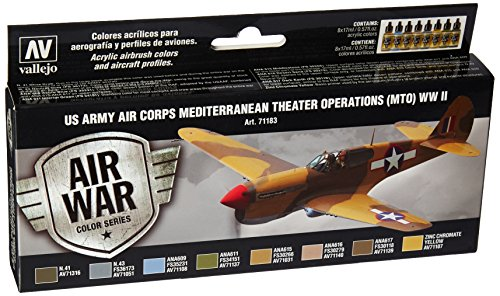 Acrylicos Vallejo'US Army Air Corps mediterraneo theatre operazioni Mto Wwii' Model Air set