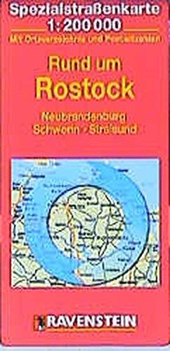 Rund um Rostock: Neubrandenburg, Schwerin, Stralsund. Spezialstrassenkarte mit Ortsverzeichnis. 1:200000 (ADAC AutoKarten Deutschland 1:200 000)
