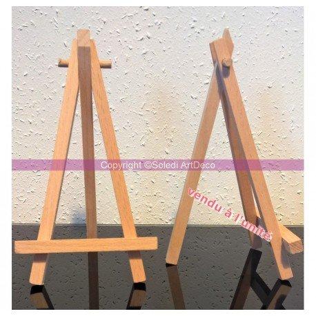 Chevalet de table en bois de hêtre, trépied, haut. 16 cm, porte-menu mariage