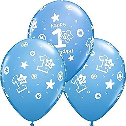 10 Luftballons Happy Birthday 1. Geburtstag blau (1 Kindergeburtstag)